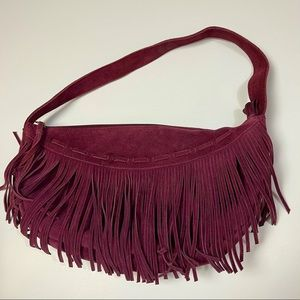 Candies Suede Leather with Fringe Purse